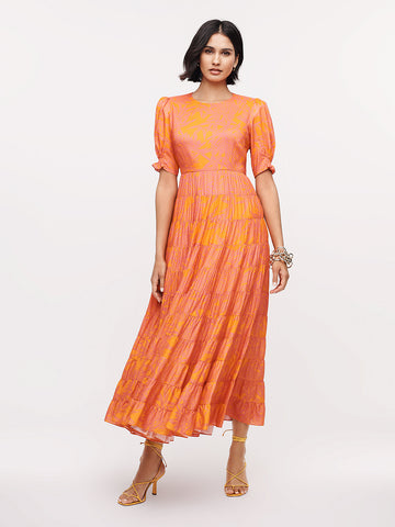 Zadie Voile-blend Maxi Dress in Lepic Argos