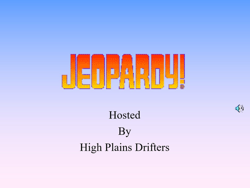 Jeopardy - On-line Trivia get together 3/31 @ 6pm