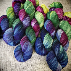 May flowers handdyed yarn