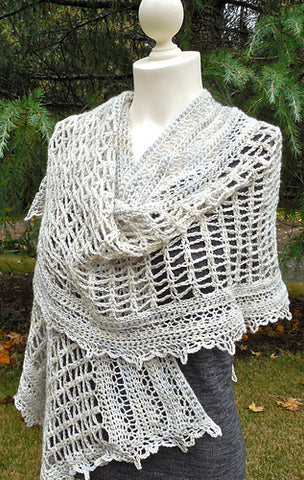 Amaroo a crochet shawl by Deanne Ramsay – Forbidden Fiber Co