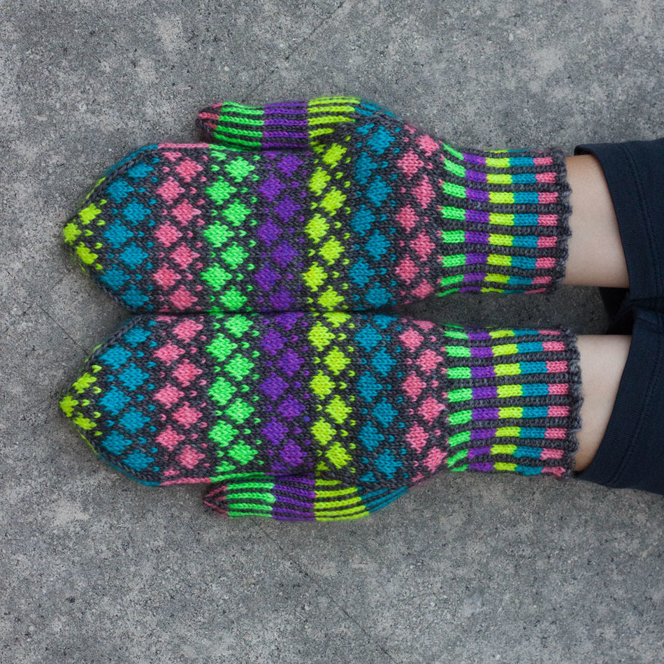 Chalk Drawings Mittens by Lisa K Ross
