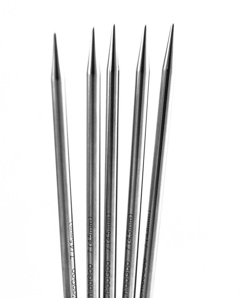 "ChiaoGoo Premium Stainless Steel 6"" Double-Pointed Needles (DPN)"
