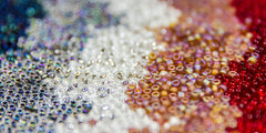 Japanese Seed Beads 6/0 - Frosted Transparent Root Beer
