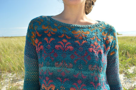 Vintage Damask Pullover by Annie Lupton