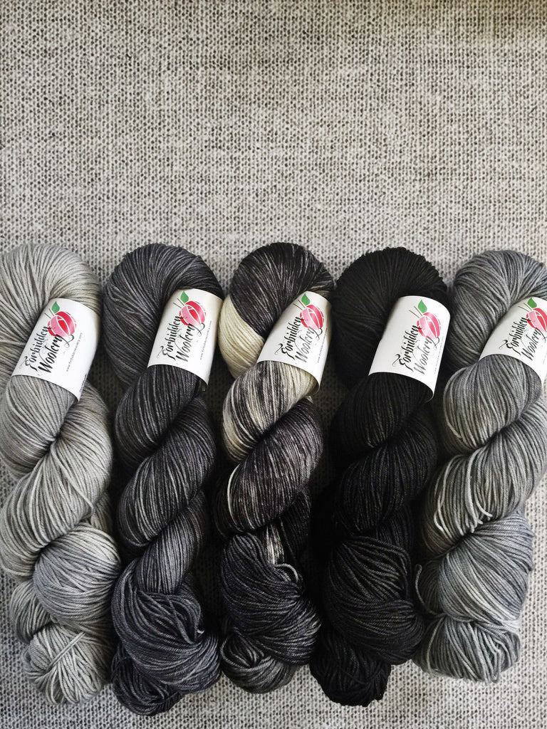 Five Skein Kits - Shades of Grey