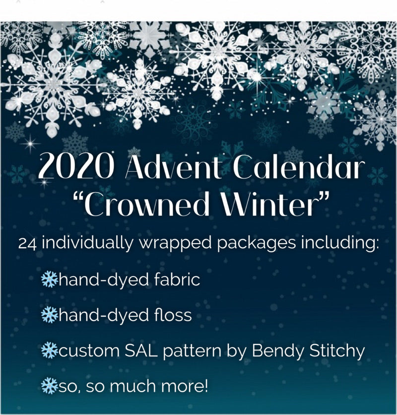2020 Cross Stitch Advent Calendar - Crowned Winter