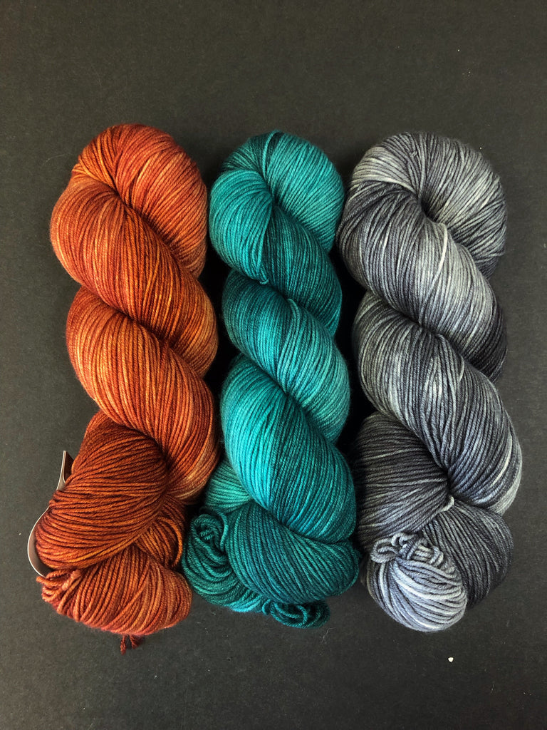 Three Color Yarn Kits - Fall Colors