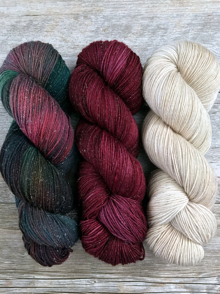 Three Color Yarn Kits - Vintage Christmas