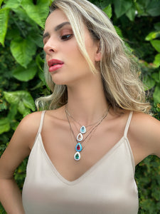 Rugen Crystal Teardrop Necklace