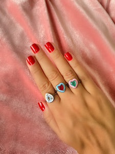 Narbonny Red Heart Ring