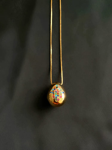 Hamsa Rainbow Necklace