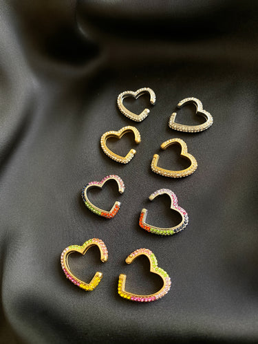 Rochelle Heart Ear Cuffs