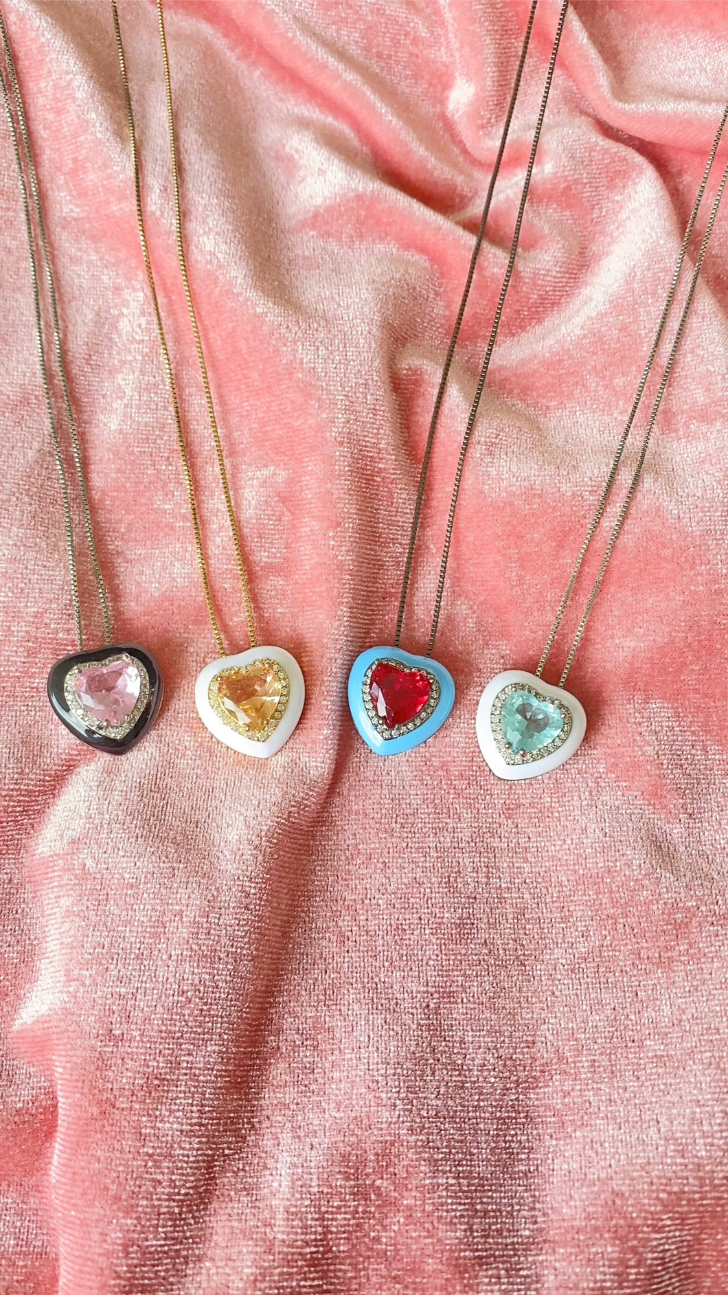 Narbonne Crystal Heart Necklace