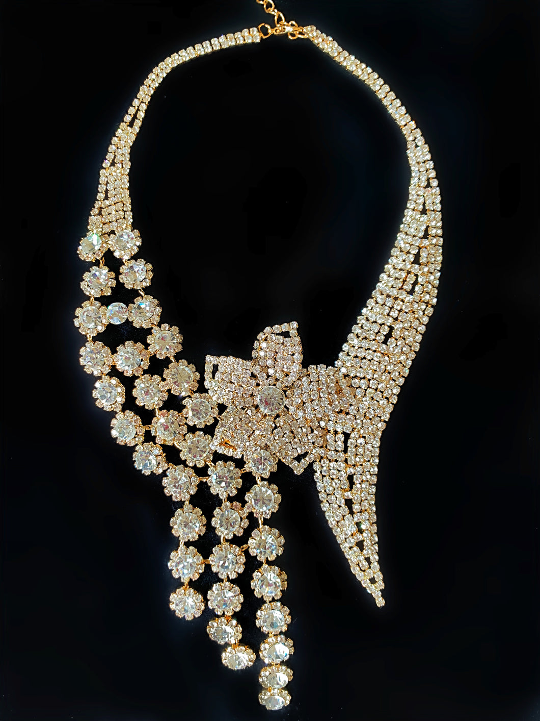 Jardin Gold Floral Crystal Necklace