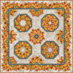 Our Autumn Friends Kaleidoscope Quilt Kit