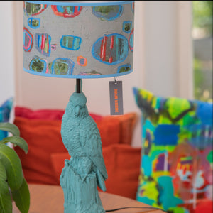 Custom Lampshade made with Julia Krone's Art Fabrics