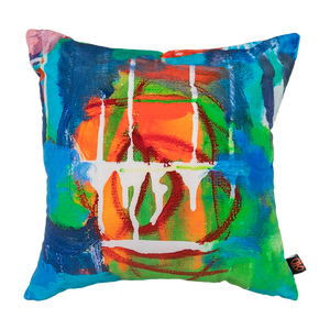 Juxtaposition I - Luxury Velvet Art Cushion