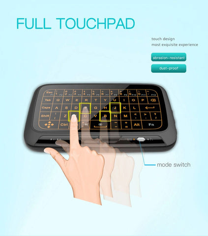 2-in-1 Wireless Multimedia Touchpad & Keyboard