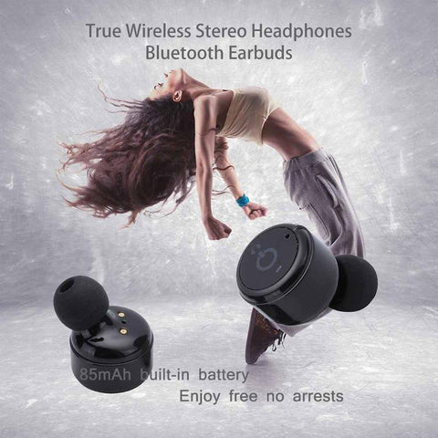 Image of New True Wireless Earbuds Twins Bluetooth 4.2 Earphone Stereo with Magnetic Charger Box Case for Mobile Phones