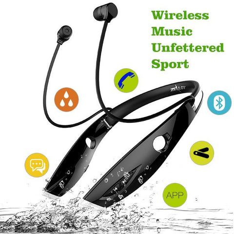 New Portable Sport Wireless Bluetooth Stereo Neckband Headset With Microphone