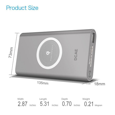 2-in-1 Wireless Charger and Portable Power Bank