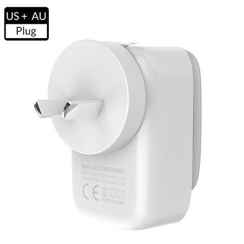 2-IN-1 LED Lamp USB Charger Adapter