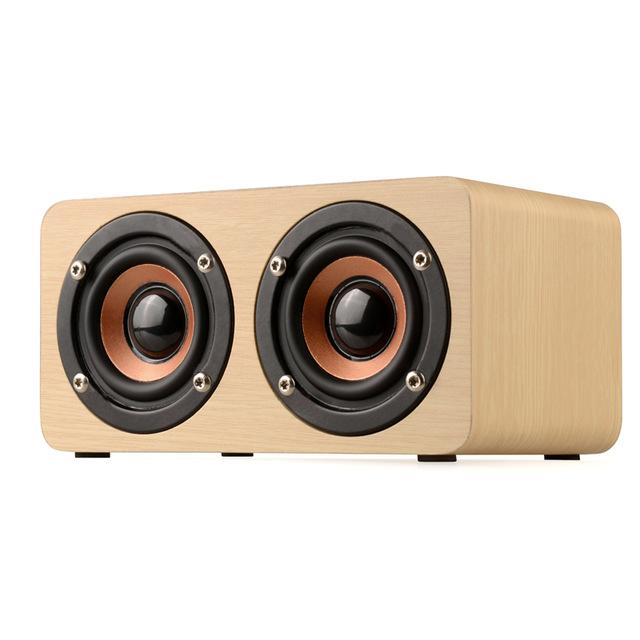 Retro Wooden Bluetooth Speaker HIFI Wireless Dual Loudspeakers 3D Surround Speaker