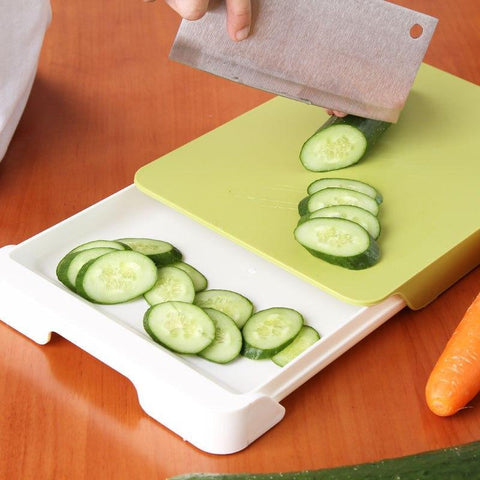 2-in-1 Chopping Board With Compartment Drawer