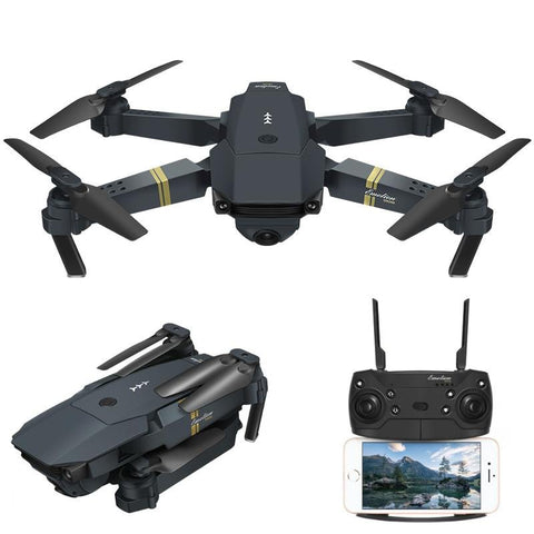 Skyhawk HD Foldable Air Selfie Drone With Camera - 2MP & 2 Battery Version