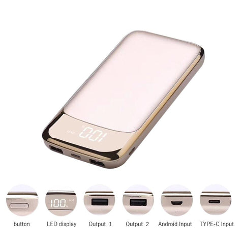 20000mAh Dual USB LCD Power Bank