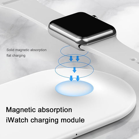 2 in 1 Wireless Charger For iPhone X XS Max XR Apple Watch 3 2 Wireless Charging Pad