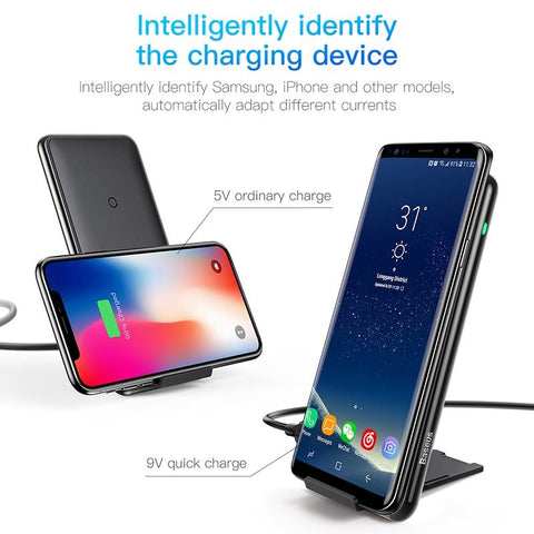 10W 3 Coils Wireless Charger For iPhone X/XS Max XR Samsung S9 Note9 Xiaomi