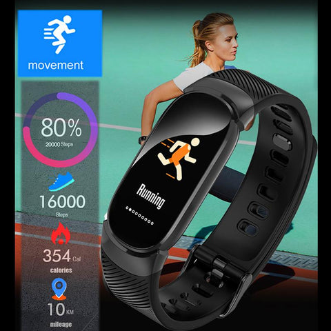 LED Waterproof SmartWatch Heart Rate Blood Pressure Pedometer Watch For Android iOS