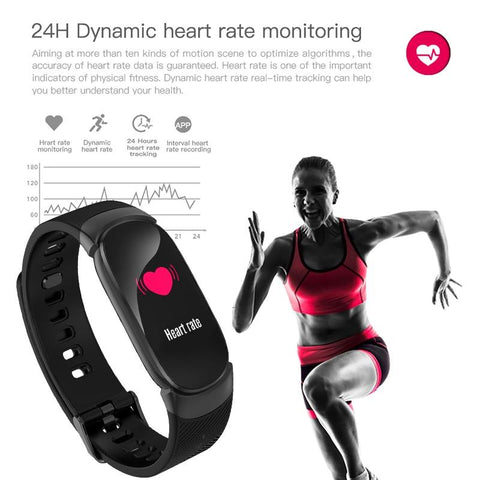 Image of LED Waterproof SmartWatch Heart Rate Blood Pressure Pedometer Watch For Android iOS