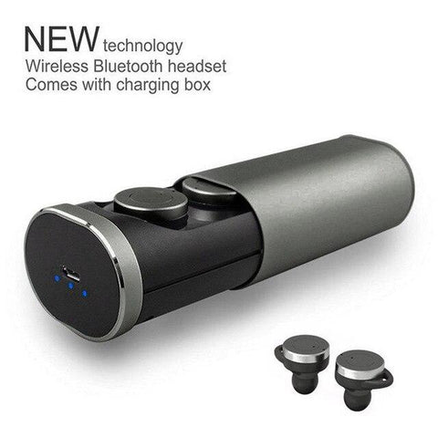 Image of New True Wireless Bluetooth In-Ear Sports Twin Earbuds Stereo Headset w/ Charge Case