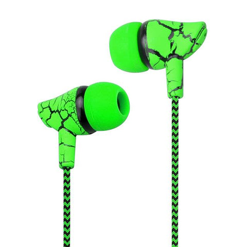 Snake Skin Style Super Bass Headset with Microphone Hands Free Headphones