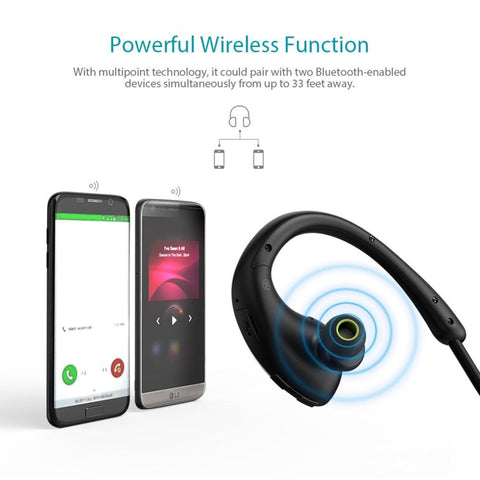 New Sweatproof Wireless Bluetooth Earphone In Ear Apt-x NFC Sports Stereo Earbud for Running for IOS Androids Windows