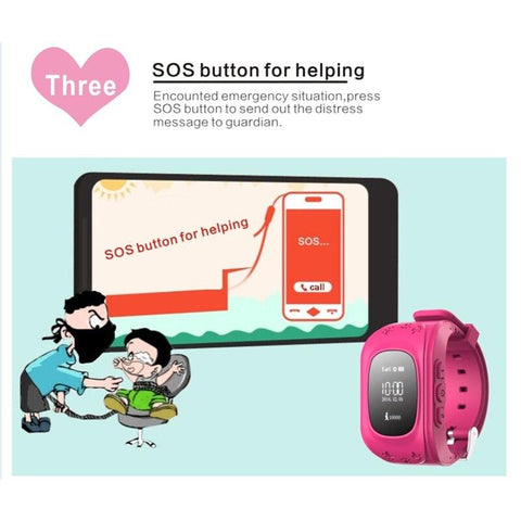 Image of Q50 Kids Smartwatch With Gps Location Finding (SOS Button)