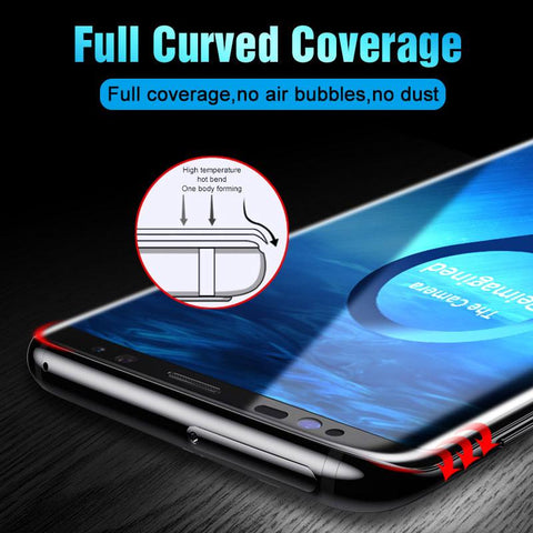 Curved Tempered Glass Screen Protector For Samsungs