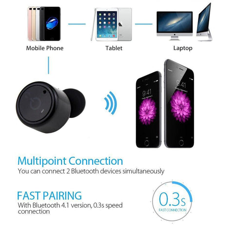 Image of New Bluetooth Earphones Mini True Wireless Marathon Earbud Twins with Microphone