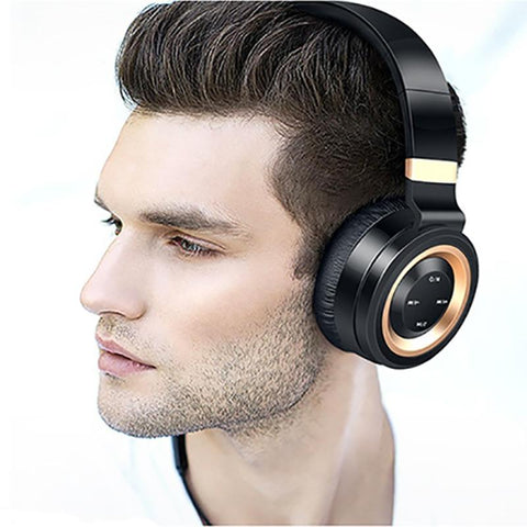 Image of New Studio Bluetooth Headphones Wireless with Microphone Support TF Card FM Radio Stereo Headset