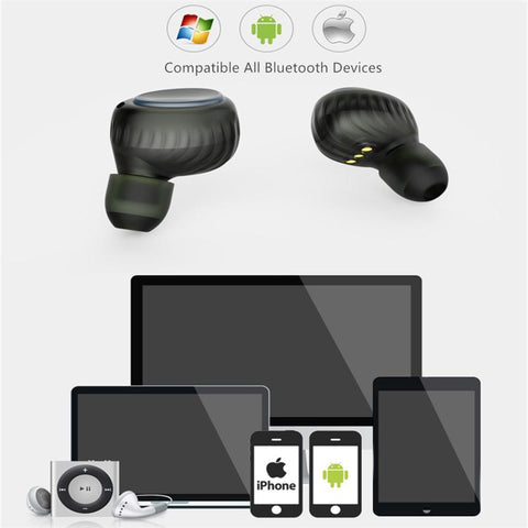 New Bluetooth 5.0 True Wireless Sweatproof Sport Earbuds With Portable Charging Case For iPhone Android