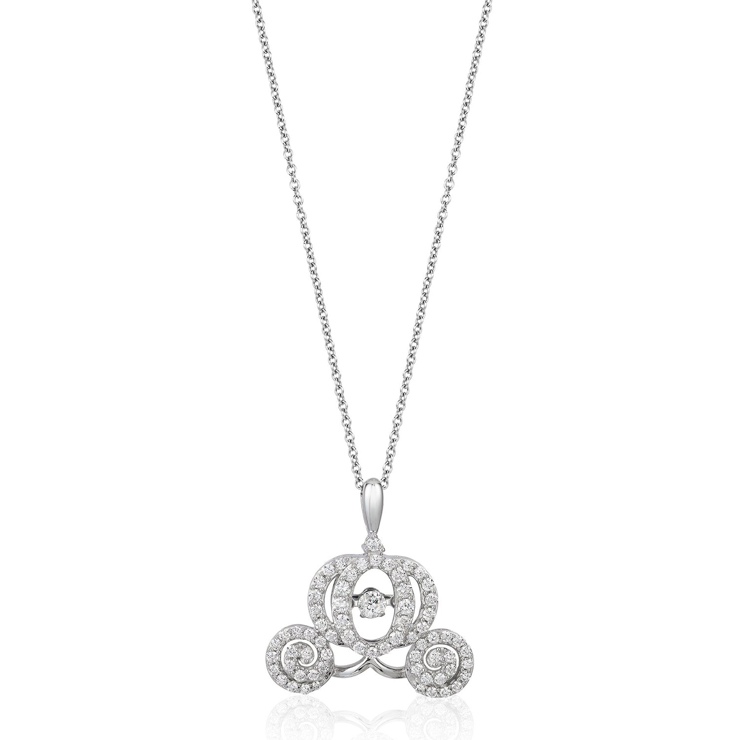 enchanted_disney-cinderella_carriage_necklace-14k_white_gold_1/2CTTW_1