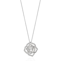 Enchanted Disney Fine Jewelry 14K White Gold 1/2Ctw Citrin Belle Rose Necklace
