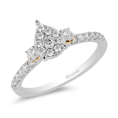 Enchanted Disney Fine Jewelry 14K White & Yellow Gold With 1/2 cttw Diamond Merida Engagement Ring