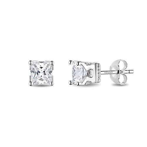 enchanted_disney-majestic-princess_3_4_cttw_princess_cut_diamond_solitaire_earrings-14k_white_gold_3/4CTTW_1