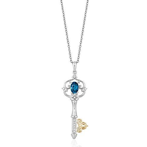 enchanted_disney-cinderella_key_pendant-10k_yellow_gold_and_sterling_silver_1/20CTTW_1