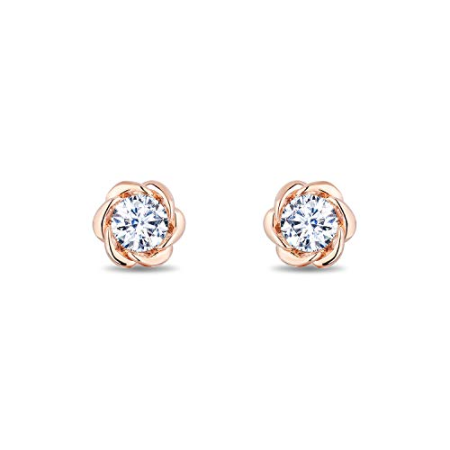 enchanted_disney-belle_solitaire_earrings-14k_pink_gold_1/2CTTW_3