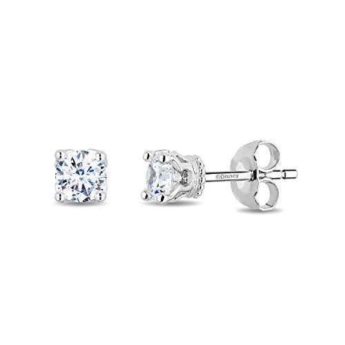 enchanted_disney-majestic-princess_solitaire_earrings-14k_white_gold_1/2CTTW_1