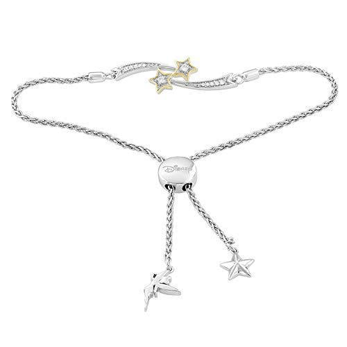 enchanted_disney-tinker-bell-white_diamond_fine_jewelry_sterling_silver_and_10k_yellow_gold_1_10cttw_bolo_bracelet-yellow_gold_and_sterling_silver_1/10CTTW_1
